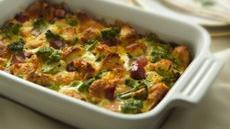 Broccoli and Ham Bread Pudding Recipe