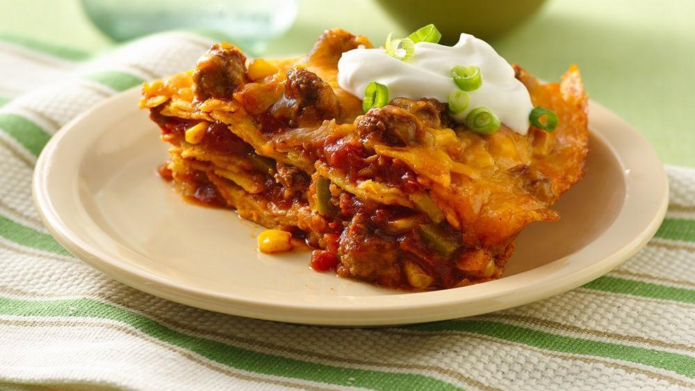Beef Enchilada Stack