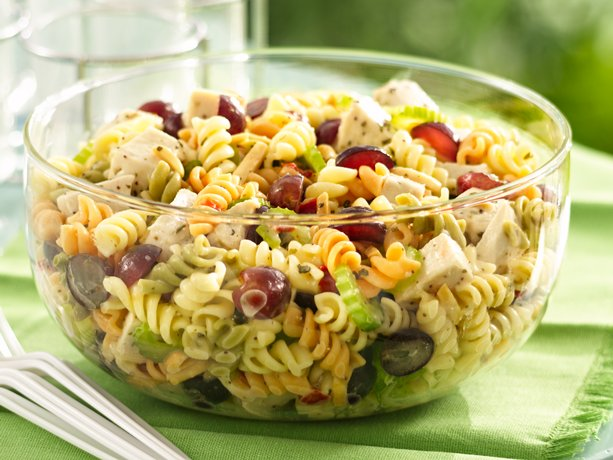 Простые салаты из макарон рецепты