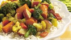 Garden Vegetable Curry with Rice Recipe