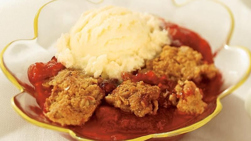 Rhubarb and Strawberry Cornbread Cobbler