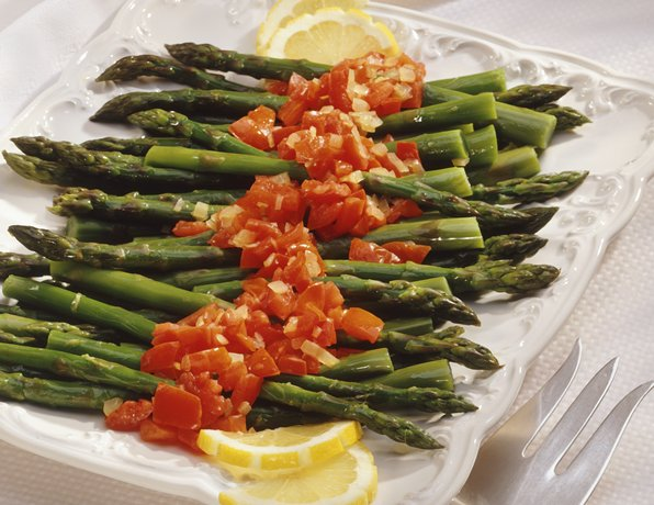 Image of Asparagus With Tomatoes, Betty Crocker