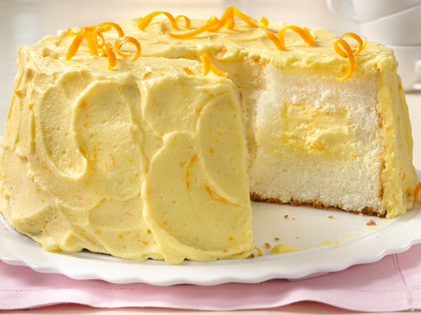 Orange Cream Angel Food Cake recipe from Betty Crocker