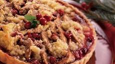 Streusel-Topped Cranberry-Pear Tart Recipe