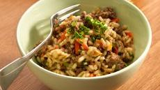 Ground Beef Risotto Recipe