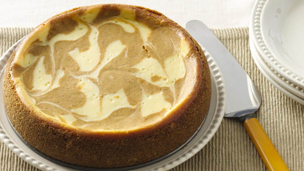 Slow-Cooker Pumpkin Swirl Cheesecake recipe from Pillsbury.com