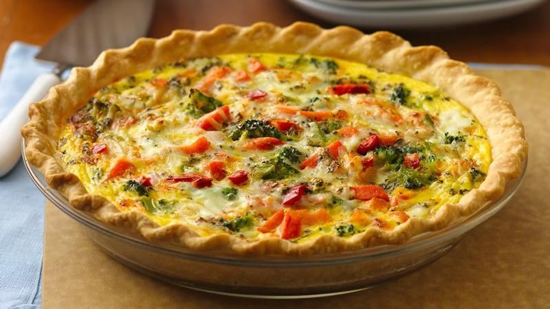 Italian Pepperoni-Vegetable Quiche