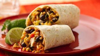 Chicken and Black Bean Burritos