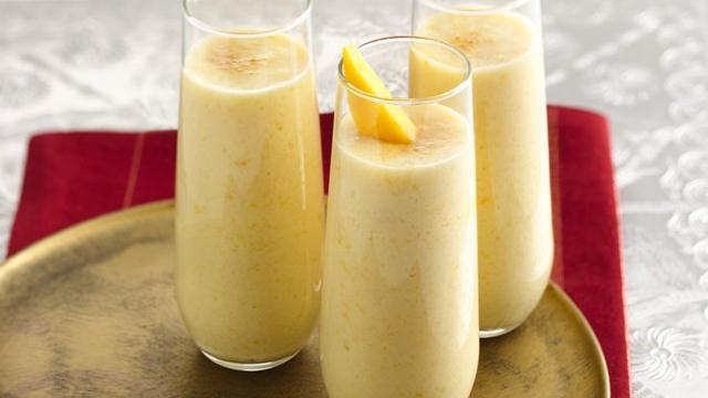 Lactose Free Peach-Mango Lassi
