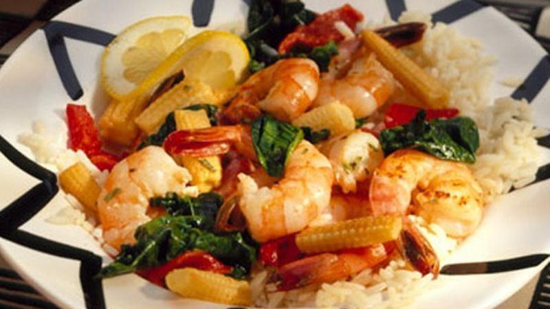 Shrimp Florentine Stir-Fry
