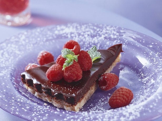 Raspberry Truffle Tart