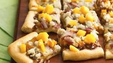 Mango, Prosciutto and Goat Cheese Appetizer Pizza Recipe