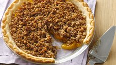 Gluten Free Peach Crumble Pie Recipe