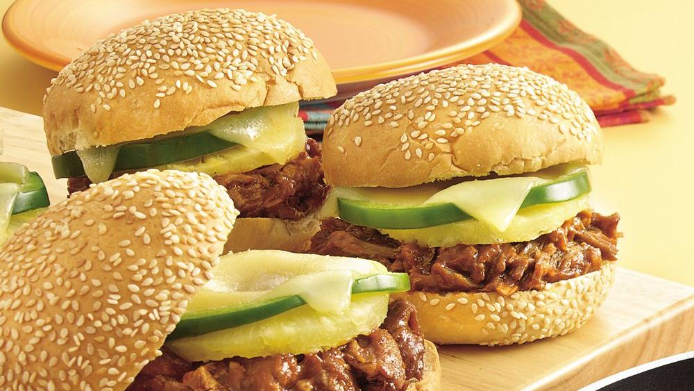 Tropical Barbecue Pork Sandwiches
