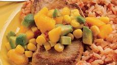 Pork Chop Skillet and Confetti Salsa Recipe