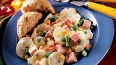 Creamy Scalloped Potatoes and Ham Supper Recipe