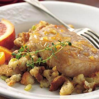 Pork Chops with Apple-Sage Stuffing recipe from Betty Crocker