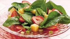 Strawberry-Melon-Spinach Salad Recipe