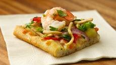 Tasty Thai Shrimp Flatbread Squares Recipe