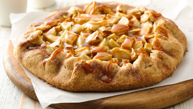 Apple Crostata with Caramel Sauce recipe from Betty Crocker