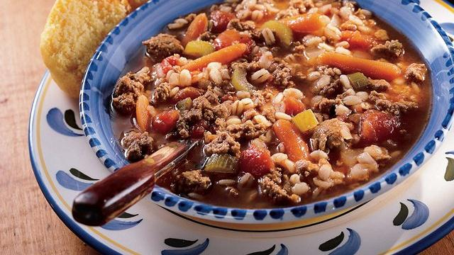 Turkey-Barley-Tomato Soup