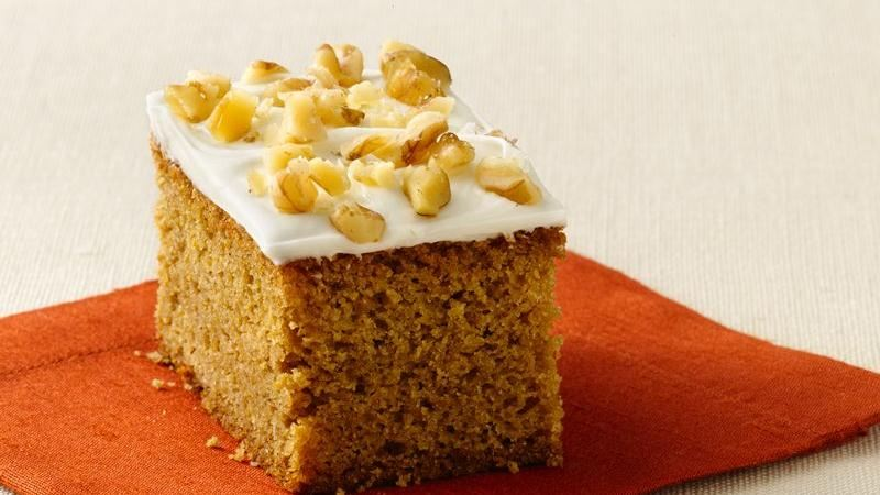 Mini Pumpkin Spice Bars recipe from Betty Crocker