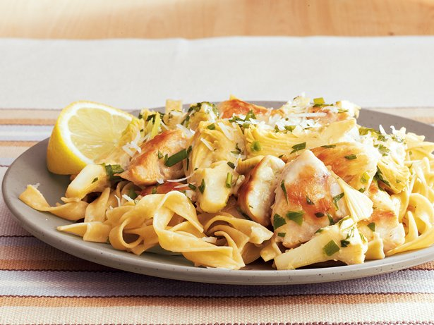 Chicken-Artichoke Pasta with Herbs