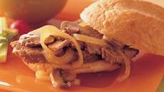 Slow Cooker Mushroom and Onion Pot Roast Sandwiches Recipe