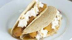 Sweet Spiced Peaches and Cream Tacos Recipe