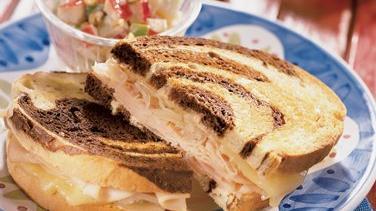 Smoked Turkey Reuben Sandwiches