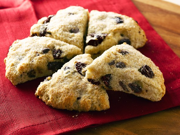 ... provides a simple addition to these baked chocolate and cherry scones