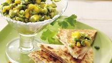 Brie Quesadillas with Mango Guacamole Recipe