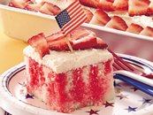Red, White and Blue Poke Cake