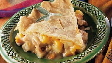 Chicken, Apple and Onion Pot Pie