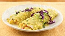 Shrimp Enchiladas with Sweet Corn Sauce Recipe