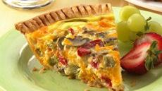 Vegetable-Cheddar Quiche Recipe