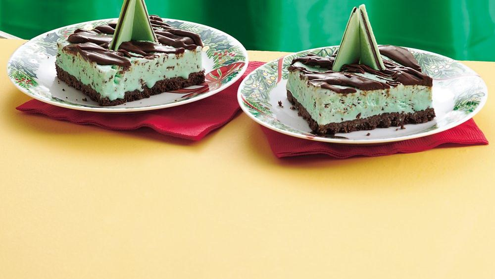 Minty Ice Cream Squares