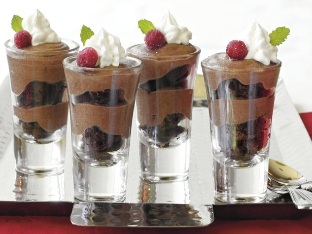 Chocolate Toffee Brownie Shooters