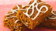 Glazed Spiced Pumpkin Bars Recipe