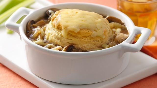 French Onion-Chicken Pot Pies
