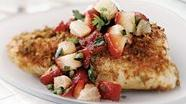 Healthified Fish with Strawberry-Poblano Relish