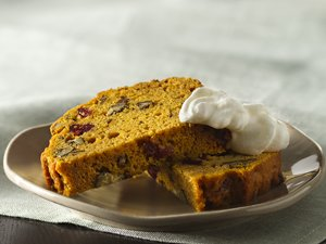 Pumpkin-Cranberry&#32;Pecan&#32;Bread&#32;with&#32;Tipsy&#32;Whipped&#32;Cream