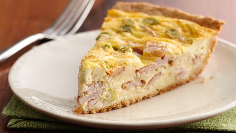 Easy Cheese and Bacon Quiche recipe from Betty Crocker