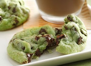 Mint&#32;Chocolate&#32;Chip&#32;Cookies