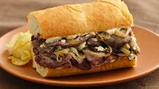 Roast Beef and Gorgonzola Hoagies Recipe