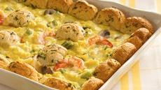 Fancy Shrimp and Egg Bake Recipe