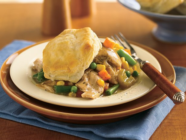 Slow Cooker Biscuit Chicken Pot Pie