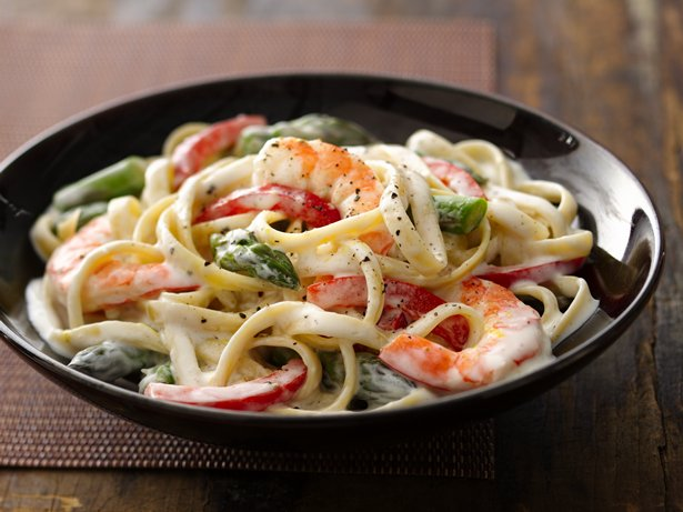 Shrimp Fettuccine Primavera 