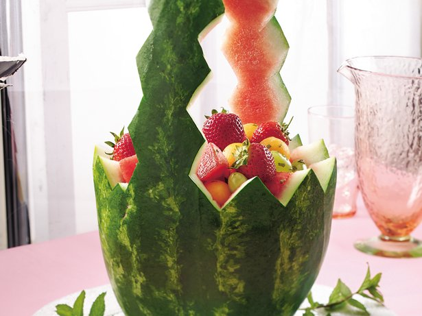 Minted Watermelon Basket