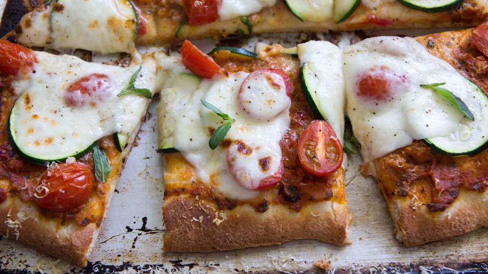 Garden Pizza with Sun-Dried Tomato Pesto